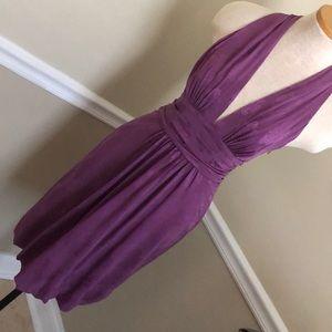 Nicole Miller purple silk dress size for